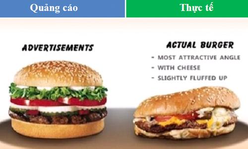 Chết cười với bộ ảnh sự thật đằng sau quảng cáo của thức ăn nhanh