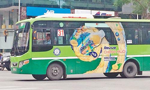 Đấu giá quảng cáo xe buýt được hơn 160 tỉ đồng