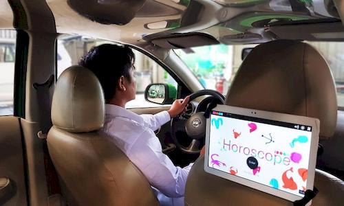 Mai Linh hợp tác với IDOOH ra mắt màn hình quảng cáo giải trí trong xe