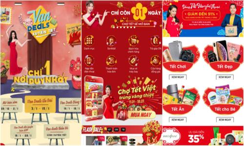 Chợ Tết online nhộn nhịp mở cửa