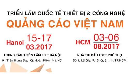 Hàng trăm gian hàng Thiết bị & Công nghệ Quảng cáo tham dự VietAd 2017