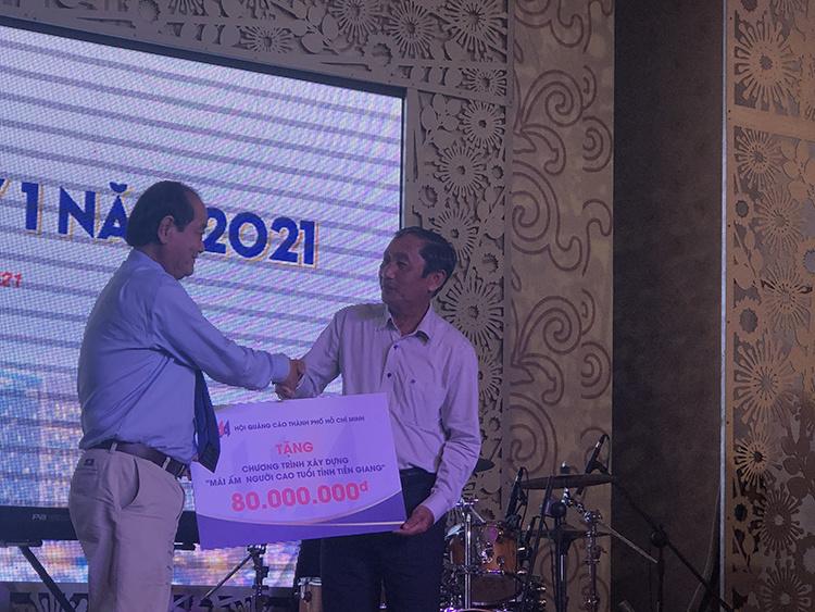 Hội Quảng cáo TP.HCM tặng 80 triệu đồng cho người cao tuổi