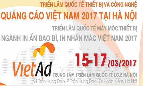 Triển lãm Quốc tế Thiết bị và Công nghệ Quảng cáo Việt Nam 2017 tại Hà Nội