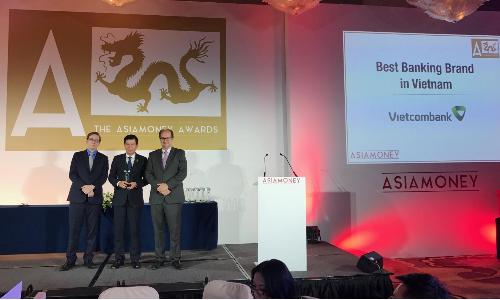Vietcombank nhận giải 'thương hiệu ngân hàng tốt nhất'