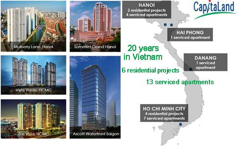 CapitaLand khẳng định thương hiệu tại các dự án nhà ở Việt Nam