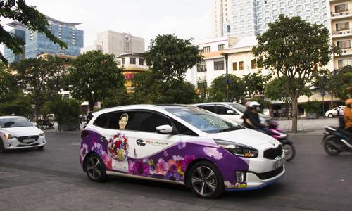 Nở rộ mô hình quảng cáo trên xe ô tô cá nhân