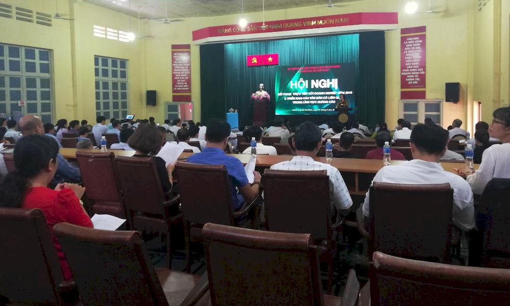 Hội nghị đối thoại với DN xung quanh việc triển khai văn bản trong lĩnh vực quảng cáo