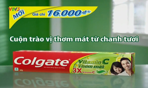 TVC Colgate Vitamin C - Cuộn Trào Vị Thơm Mát Từ Chanh Tươi