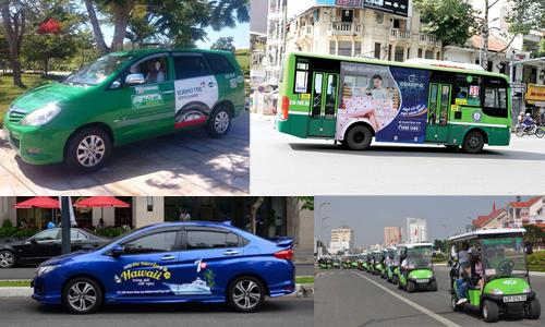 4 phương tiện giao thông quảng cáo hot nhất tại Việt Nam