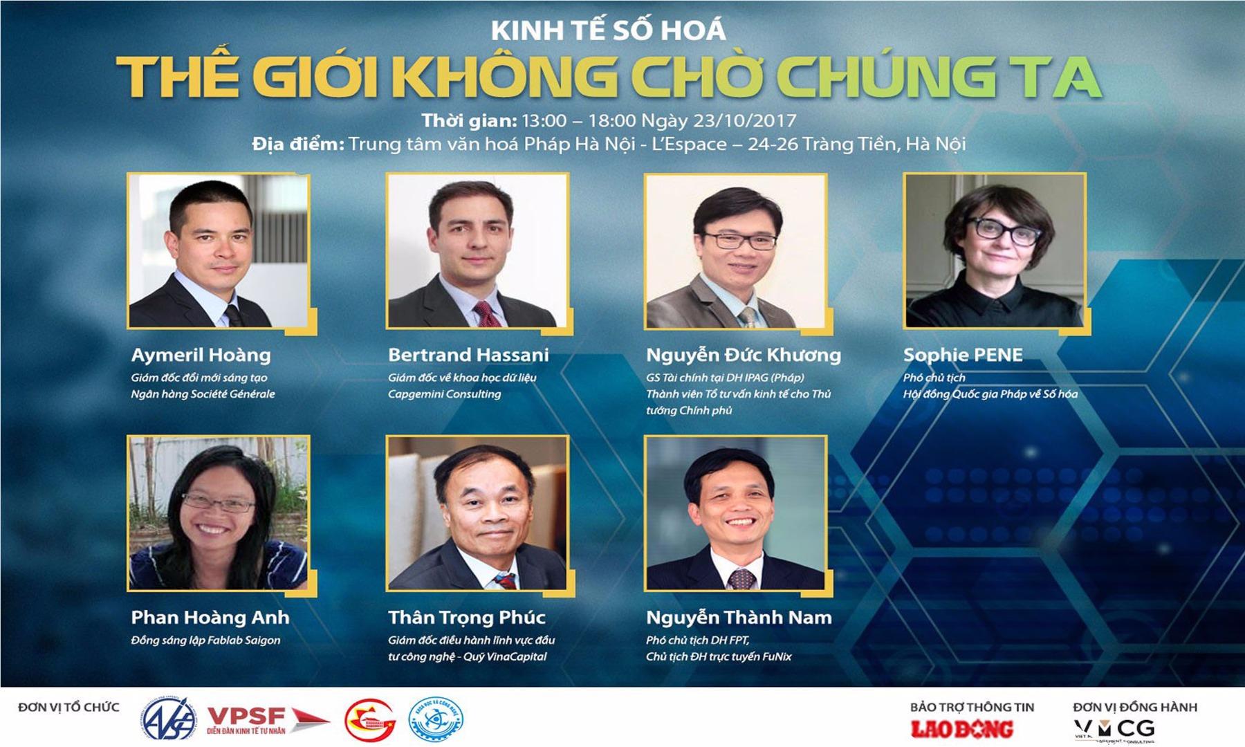 Một loạt hội thảo trước thềm Diễn đàn Kinh tế số hóa 2018
