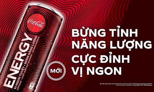 Nước tăng lực Coca-Cola Energy ra mắt thị trường Việt