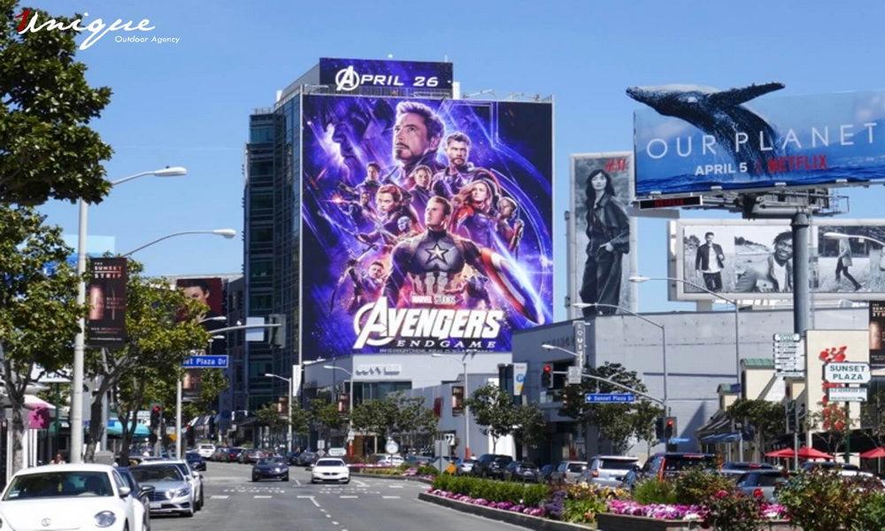 Siêu bom tấn Avengers: Endgame và hàng loạt những billboard quảng cáo cực khủng