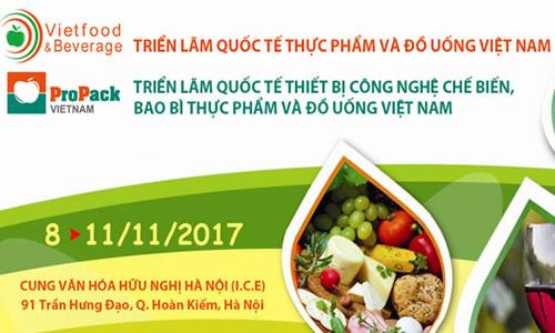 Triển lãm Quốc tế Thực phẩm và Đồ uống 2017 tại Hà Nội